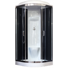 Душевая кабина Royal Bath RB 100HK6-BT-CH (черное/прозрачное)