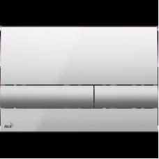 Кнопка смыва AlcaPlast ALCA M1713 хром глянцевый/хром матовый
