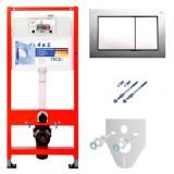 Система инсталляции для унитазов TECE TECEbase kit 9 400 006 4 в 1 с кнопкой смыва