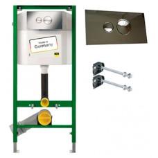 Система инсталляции для унитазов Viega Eco plus New с кнопкой смыва + крепления