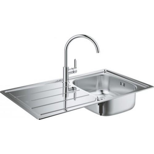 Комплект Grohe Bau 31562SD0 Мойка кухонная K200 31552SD0 + Смеситель BauEdge 31367000 для мойки