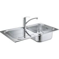 Комплект Grohe Eurosmart 31565SD0 Мойка кухонная K300 31563SD0 + Смеситель Eurosmart 33281002 для ку