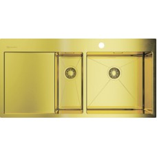 Мойка кухонная Omoikiri Akisame 100-2-LG-R светлое золото