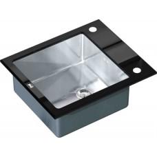 Мойка кухонная Zorg Inox Glass GL-6051-BLACK черное стекло