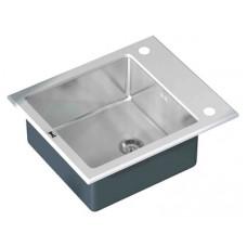 Мойка кухонная Zorg Inox Glass GL-6051-WHITE белое стекло