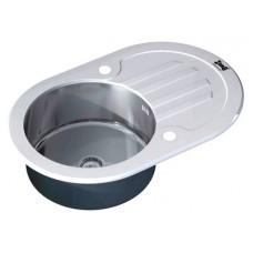 Мойка кухонная Zorg Inox Glass GL-7851-OV-WHITE белое стекло