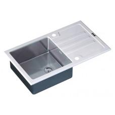 Мойка кухонная Zorg Inox Glass GL-7851-WHITE белое стекло