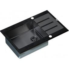 Мойка кухонная Zorg Inox Glass GL-7851-black-grafit черное стекло
