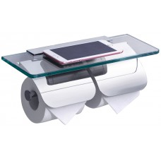 Держатель туалетной бумаги Rush Edge ED77132 с двойной полкой для телефона