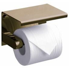 Держатель туалетной бумаги Rush Edge ED77141 Bronze с полкой для телефона, бронзовый