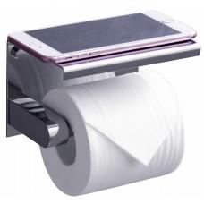 Держатель туалетной бумаги Rush Edge ED77141 Chrome с полкой для телефона, хром