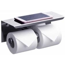 Держатель туалетной бумаги Rush Edge ED77142A с двойной полкой для телефона, модель А