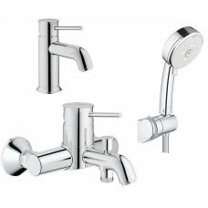Комплект  Смеситель Grohe BauClassic 32865000 для ванны с душем + Смеситель Grohe BauClassic 2316200