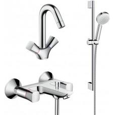 Комплект для ванной  Смеситель Hansgrohe Logis 71243000 для ванны с душем + Смеситель Hansgrohe Logi