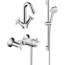 Комплект для ванной  Смеситель Hansgrohe Logis Classic 71240000 HG для ванны с душем + Смеситель Han
