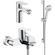 Комплект для ванной  Смеситель Hansgrohe Metris 31480000 для ванны с душем + Смеситель Hansgrohe Met