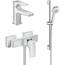 Комплект для ванной  Смеситель Hansgrohe Metropol 32560000 для душа + Смеситель Hansgrohe Metropol 3