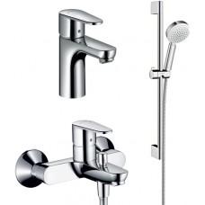 Комплект для ванной  Смеситель Hansgrohe Talis E2 31642000 для ванны с душем + Смеситель Hansgrohe T