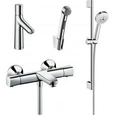 Комплект для ванной  Смеситель Hansgrohe Talis Select S 72291000 для раковины с гигиеническим душем,