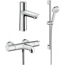 Комплект для ванной  Термостат Hansgrohe Ecostat 1001 CL ВМ 13201000 для ванны с душем + Смеситель H