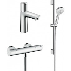 Комплект для ванной  Термостат Hansgrohe Ecostat 1001 CL ВМ 13211000 для душа + Смеситель Hansgrohe
