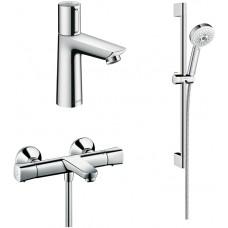 Комплект для ванной  Термостат Hansgrohe Ecostat universal 13123000 для ванны с душем + Смеситель Ha