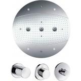 Верхний душ Hansgrohe Raindance Rainmaker 28404000 с подсветкой, комплект