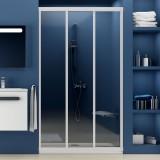 Душевая дверь в нишу Ravak ASDP3-110 Transparent, профиль белый