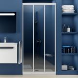 Душевая дверь в нишу Ravak ASDP3-90 Transparent, профиль белый