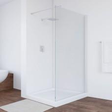 Душевая перегородка Vegas Glass EAF 106 01 01 профиль белый, стекло прозрачное