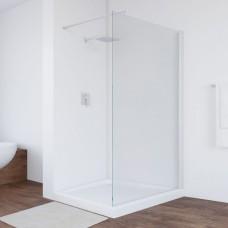 Душевая перегородка Vegas Glass EAF 116 01 01 профиль белый, стекло прозрачное