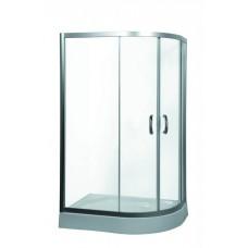 Душевой уголок Am.Pm Bliss L Twin Slide 120 L профиль матовый хром, стекло прозрачное