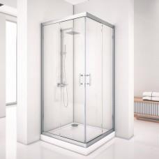 Душевой уголок Aquanet Alfa Cube NAA1142 1000х1000х2000 стекло прозрачное, профиль хром