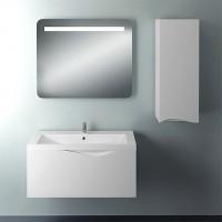 Мебель для ванной 1MarKa Этюд 90П белый глянец