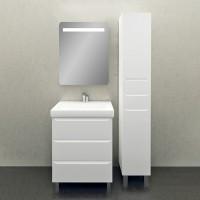 Мебель для ванной 1MarKa Кода 60Н белый глянец