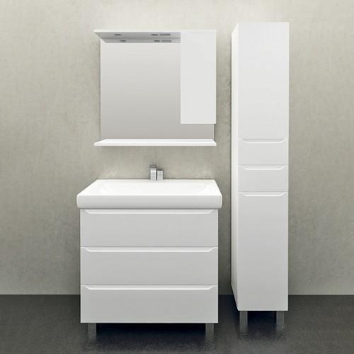 Мебель для ванной 1MarKa Кода 80Н белый глянец