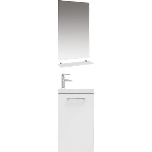 Мебель для ванной 1MarKa Ноктюрн 40П белый глянец