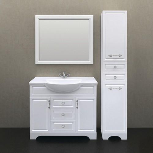 Мебель для ванной 1MarKa Прованс 105Н белый глянец