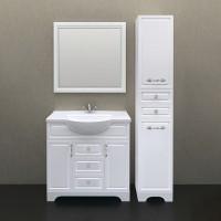 Мебель для ванной 1MarKa Прованс 85Н белый глянец
