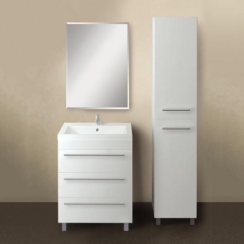 Мебель для ванной 1MarKa Соната 58Н с 3 ящиками, белый глянец