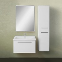 Мебель для ванной 1MarKa Соната 58П с 1 ящиком, белый глянец