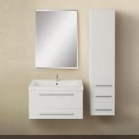 Мебель для ванной 1MarKa Соната 58П с 2 ящиками, белый глянец