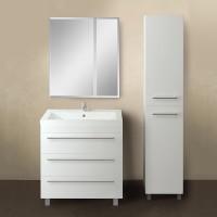 Мебель для ванной 1MarKa Соната 75Н с 3 ящиками, белый глянец