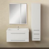 Мебель для ванной 1MarKa Соната 75П с 2 ящиками, белый глянец