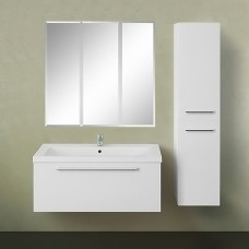 Мебель для ванной 1MarKa Соната 90П с 1 ящиком, белый глянец