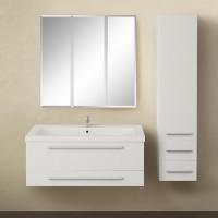 Мебель для ванной 1MarKa Соната 90П с 2 ящиками, белый глянец