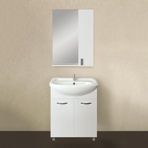 Мебель для ванной 1MarKa Вита 65Н с 2 дверцами, белый глянец