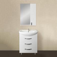 Мебель для ванной 1MarKa Вита 65Н с 3 ящиками, белый глянец