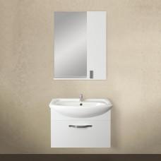 Мебель для ванной 1MarKa Вита 65П с 1 ящиком, белый глянец