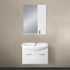 Мебель для ванной 1MarKa Вита 65П с 2 дверцами, белый глянец
